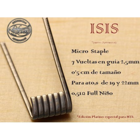 LADY COILS ISIS (micro staple) 1 RESISTENCIA (ARTEMISA)