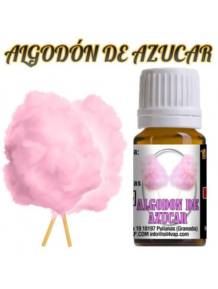 Aroma vapeo OIL4VAP ALGODON DE AZUCAR 10ML