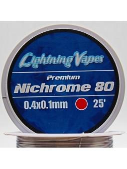 BOBINA NICHROME 80 0.4x0.1 30Metros Lightning Vapes