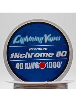 LIGHTNING VAPES - BOBINA NICHROME 80 300Metros...