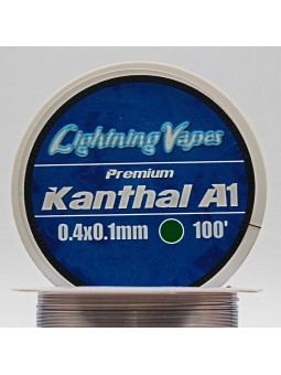 BOBINA KANTHAL A1 30Metros Lightning Vapes 0.4x0.1
