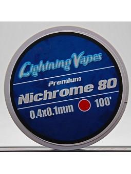 LIGHTNING VAPES - BOBINA NICHROME 80 0.4x0.1 7,5Metros