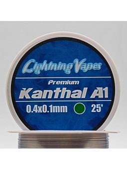 BOBINA KANTHAL A1 7.5Metros Lightning Vapes 0.4x0.1