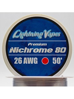 BOBINA NICHROME 80 15Metros Lightning Vapes 26 AWG